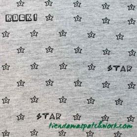 Tejido elástico punto Rock Star 3