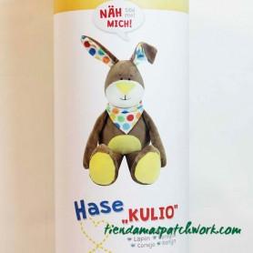 Kit de costura patchwork Peluche Conejo Kulio 1