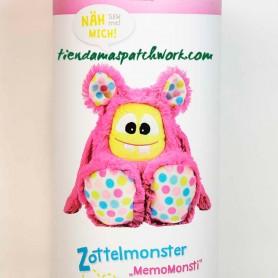 Kit de costura patchwork Peluche Monstruo MemoMonsti rosa 1