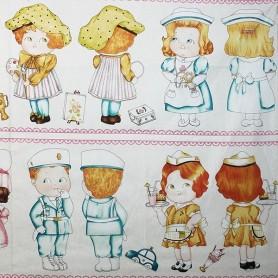 Panel Muñecas de Papel I