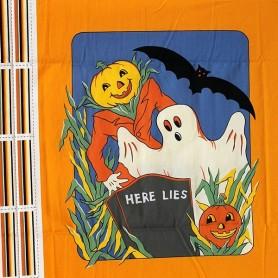 Panel Patchwork Halloween Here Lies