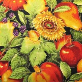 tela-patchwork- cocina -frutas-flores 3
