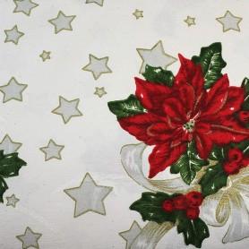 Tela patchwork Navidad Brocada Flor Ponsetia