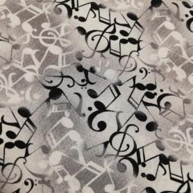 Tela patchwork musica notas musicales y clave de sol