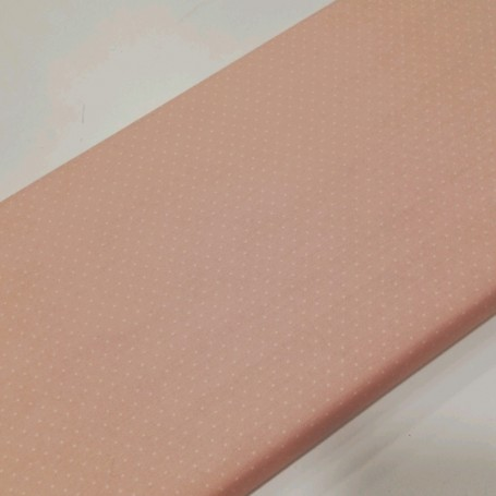 Tela patchwork mini topo blanco fondo rosa