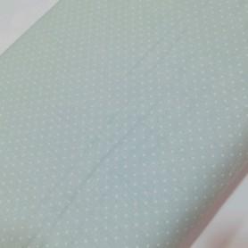 Tela Patchwork mini topo blanco fondo verde mint 2