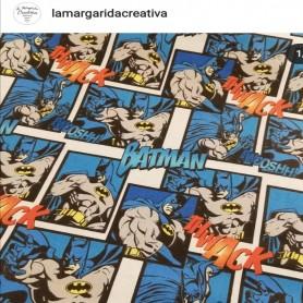 Tejido tela patchwork batman cómic SUPERHEROES