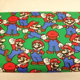 Tela patchwork Mario Bros videojuego algodón 2