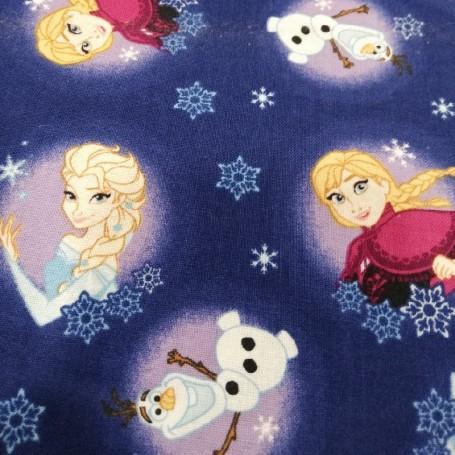 Tela patchwork Disney Frozen Elsa, Anna y Olaf