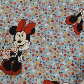 Tela patchwork disney minnie mouse florecitas lazo rojo en www.lamargaridacreativa.com 3