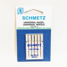 Agujas schmetz-planas-máquina-de-coser-Universal-80