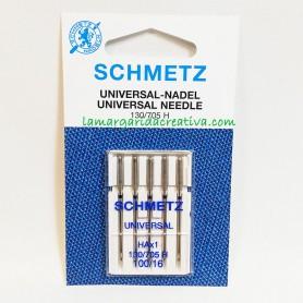 Agujas Schmetz universal máquina coser plana 100