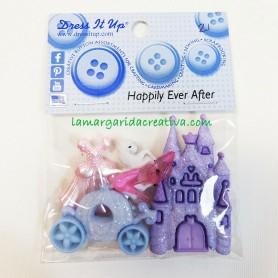Cenicienta botones infantiles decorativos patchwork Happily Ever After