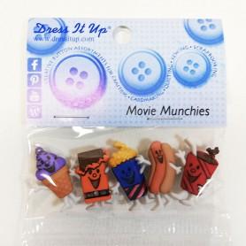 Botones decorativos patchwork Movie munchies