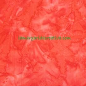 Tela patchwork batik Roja con aguas 4
