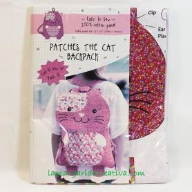 Kit patchwork Mochila Infantil Kitty Gatita rosa y lila 4