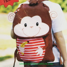 Kit patchwork Mochila Infantil Monkey 2