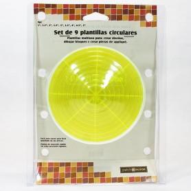 PLANTILLA PATCHWORK CÍRCULOS SET DE 9 MEDIDAS FILDOR 1