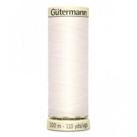 Hilo GUTTERMAN 100m 111 Blanco