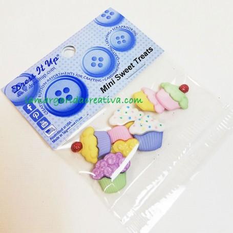 Botones decorativos patchwork Mini sweet treats