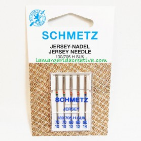 Agujas Schmetz máquina coser plana SUK (jersey)