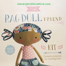 Kit patchwork tilda rag doll friend muñeca