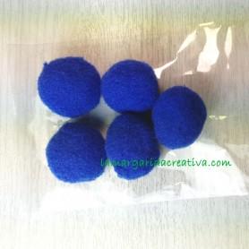 Bolitas fieltro azul eléctrico decorativas para manualidades diy