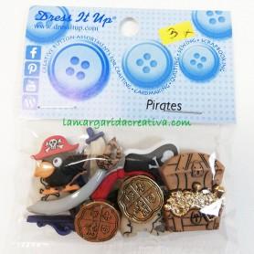 Botones decorativos patchwork Piratas