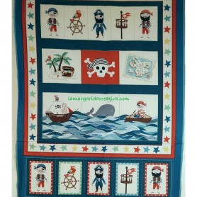 PANEL PATCHWORK INFANTIL PIRATAS