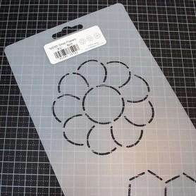 PLANTILLA PATCHWORK ACOLCHADO BORDES SMALL FLOWERS CNS101 3,5'' 9CM