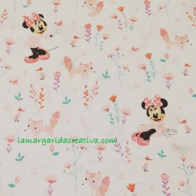 Tela patchwork infantil disney minnie mouse rosa lamargaridacreativa