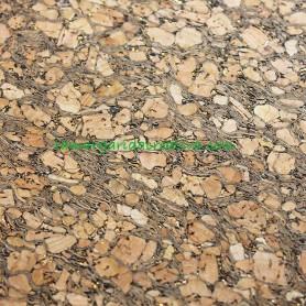 Tela tejido corcho natural dos colores brillo para patchwork y costura 3
