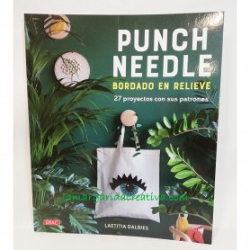 Libro bordado aguja mágica punch needle lamargaridacreativa
