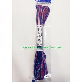 Hilo sashiko olimpus japonés matizado rojo y azul 2