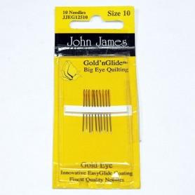 Agujas acolchar patchwork John James nº10