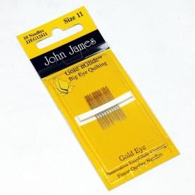 Agujas patchwork ojo grande dorado 11 John James