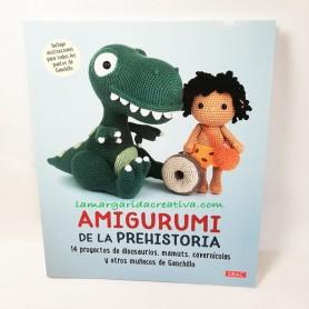 Libro ganchillo Amigurumi de la prehistoria lamargaridacreativa