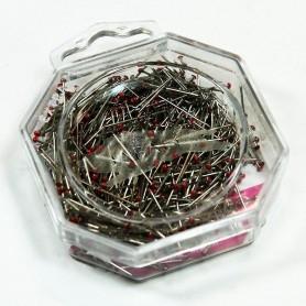 Alfileres manualidades patchwork rojo pin art 2