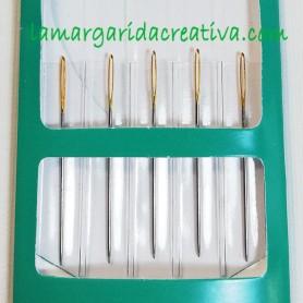 Agujas bordar punto de cruz lamargaridacreativa.com