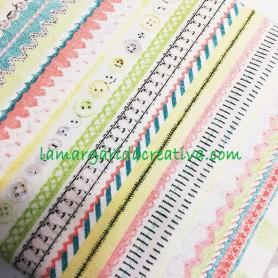 tela patchwork estampada temática mercería y costura lamargaridacreativa.com 3