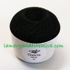 Hilo ovillo perlé 5gr Osiris negro para bordar y manualidades lamargaridacreativa.com