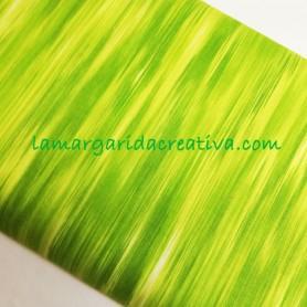 Tela patchwork estampada verde lima fleuris lamargaridacreativa.com