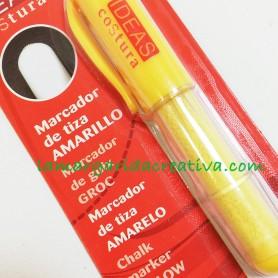 Marcador de tiza natural para costura amarillo lamargaridacreativa.com