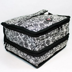 Clasificador Patchwork Floral Negro 4