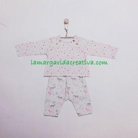 Patrón costura Camiseta raglán de manga larga y pantalones anchos