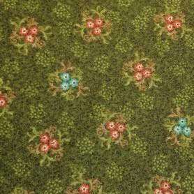 Tela patchwork floral rustica lamargaridacreativa