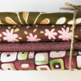 Fat quarter patchwork combinado verde y lilas lamargaridacreativa 2