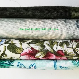 Fat quarter patchwork combinado flores lamargaridacreativa 1