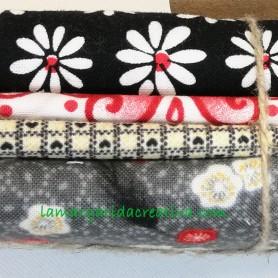 Fat quarter patchwork combinado negro y rojo lamargaridacreativa 1