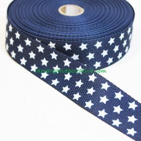 Cinta mochila nylon estampada estrellas azul marino  lamargaridacreativa 3